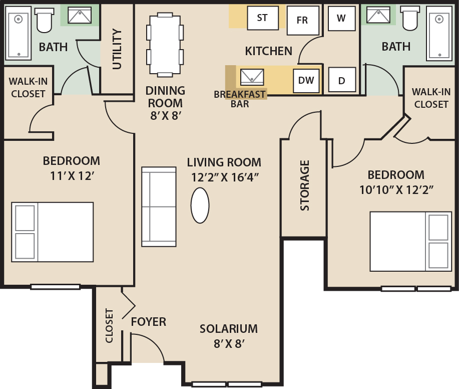 Country Lake Apartments: Luxury Apartment Floor Plans In Jacksonville, FL